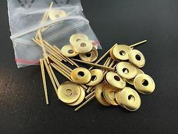 Round Brass Hand Washers and Pins for Antique Clocks set of
