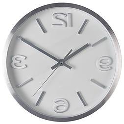 Bernhard Products - Wall Clock 10 Inch Modern Silver Round E