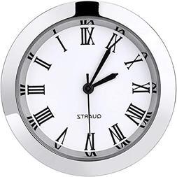 Hicarer 1-1/2 Inch  Round Quartz Clock Insert with Roman Num