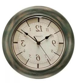 "Chaney Round Rustic Finish Wall Clock ~ 9.8"" Diameter"