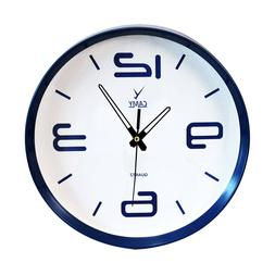 CAMY  Round Wall Clock Quality Quartz Battery Operated for H