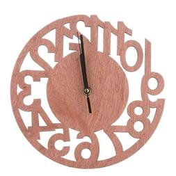 Round Wood Tree Wall Clock For Home Living Room Bedroom Offi