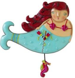 Allen Designs Ruby Mermaid Pendulum Clock by Allen Designs