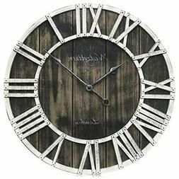 Westzytturm Rustic Big Clocks for Living room Decor Large
