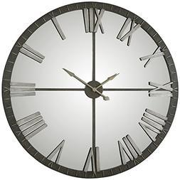 "NEW 60"" Mirrored Round Wall Clock Oversized XL Modern Rustic"