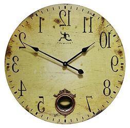 Infinity Instruments 24 Inch Large Rustic Pendulum Wall Cloc
