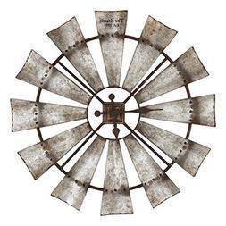 Special T Imports Rustic Windmill Clock