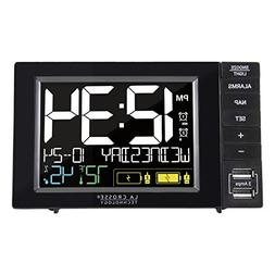 S85906 La Crosse Technology Dual Alarm Clock with 2 USB Char