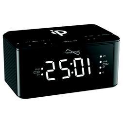 sc6030qiblk clock radio with qi wireless charging