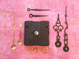 SHORT Shaft Battery Quartz Clock Movement Kit!  - With 3 Pai