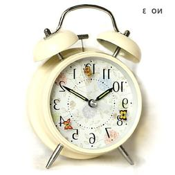 "hito 4"" Silent Alarm Clock Flying Butterfly Battery Operated"