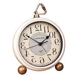 "5.5"" Silent Desk Clocks Mantel Small Decorative,Vintage Quar"