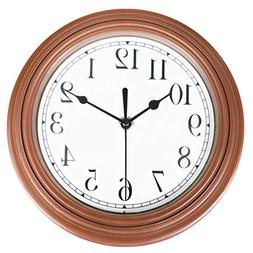 Foxtop Retro Wall Clock, Silent Non Ticking Quartz Decorativ