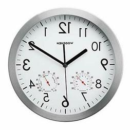 WOOPHEN 12' Silent Non-Ticking Lagre Decorative Wall Clock w