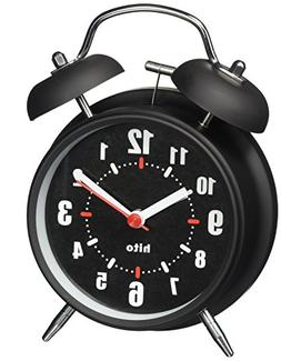 "hito 4"" Silent Non-ticking Quartz Analog Alarm Clock w/Extra"