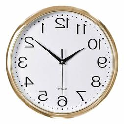 Silent Non-Ticking Quartz Battery Operated Wall Clock for Li