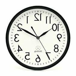 DreamSky 10 inches Silent Non-Ticking Quartz Wall Clock Deco