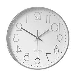 Foxtop Modern Silent Non-Ticking Wall Clock Battery Operated