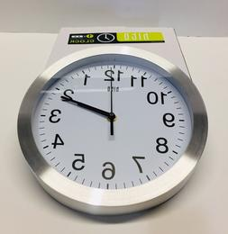 hito Silent Non-Ticking Wall Clock- 10 Inches