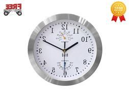 Silent Non-ticking Wall Clock- Aluminum Frame Glass Cover, 1
