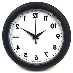 "Hippih 10"" Silent Quartz Decorative Wall Clock Non-ticking B"
