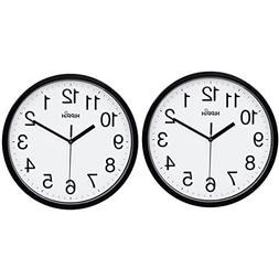 "Hippih 10"" Silent Quartz Decorative Wall Clock Non-ticking D"