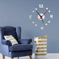 Silent Wall Clock DIY Table Mirror Wall Stickers Living Room