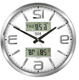silent wall clock non ticking 16 inch