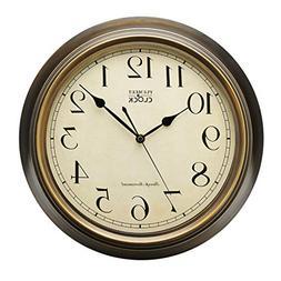 Plumeet Extra Large Silent Wall Clock, 14'' Non Ticking Clas
