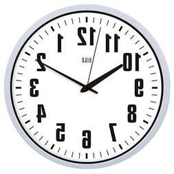 hito Silent White Wall Clock Non Ticking 12 inch Excellent A