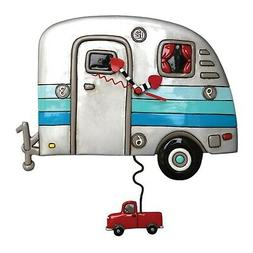 Allen Designs Silver and Blue Happy Campers Truck Pendulum B