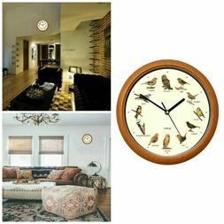 Singing Bird Wall Clock Battery Powered Home Decorative Cloc