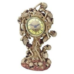 Design Toscano Skeleton Crew Sculptural Mantel Clock