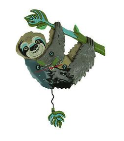 slow poke sloth pendulum wall clock
