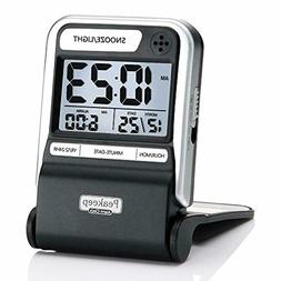 Small Digital Clock Travel Alarm Battery Operated Compact Wi