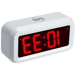 Small Wall/Shelf/Desk Digital Alarm Clock Battery Operated O