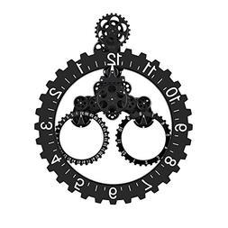 "Smart 3D Gear Clock Mechanical Style, 26"" x 22"" Large Sized"