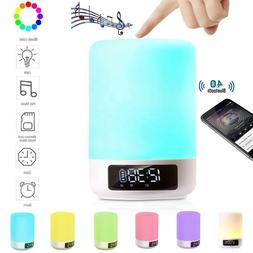 Bluetooth Speaker Lamp Alarm Clock MP3 Player - DENT Product