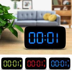 Smart LED Digital Alarm Clock,USB and Battery-Operated,Auto