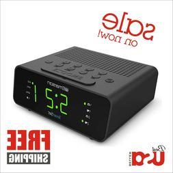 Emerson Smart Set Alarm Clock Radio with AM/FM Radio Dimmer