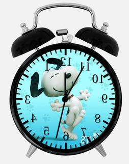 "Snoopy Alarm Desk Clock 3.75"" Home or Office Decor E372 Nice"