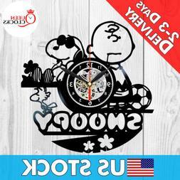Snoopy Peanuts Cartoon Vinyl Record Wall Clock Baby Nursery