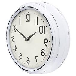 45Min 9.5 Inch Spherical Glass Round Classic Clock, Silent N