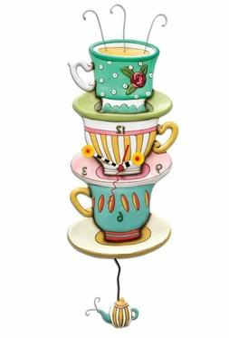 Allen Designs Spot of Tea Pendulum Child Kids Whimsical Wall