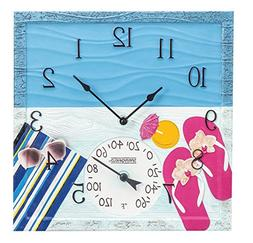 Springfield 92670 at The Pool Outdoor Clock and Thermometer,