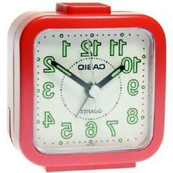 Casio Standard Traveller's Red Resin Table Clock TQ141-4D TQ
