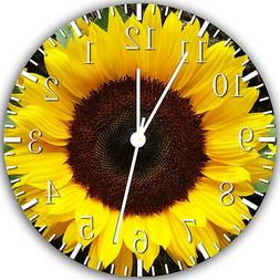 """Sun Flower wall Clock 10"""" will be nice Gift and Room wall De"""