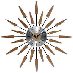 Sunburst Design Analog Wall Clock Home Office Living Room Be
