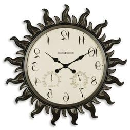Howard Miller Sunburst Outdoor Wall Clock Grandin Road