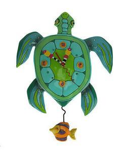 Allen Designs Sup Dude? Sea Turtle Pendulum Wall Clock